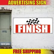 Finish Banner Advertising Vinyl Sign Flag Start Stop Race Competition Relay End