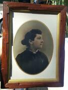Whole Plate Tintype Sevierville,tn Lady In Unusual Oblong Frame Nancy Commer