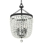 Crystorama Archer 5 Light Spectra Chandelier, Black Forged - 785-bf-cl-saq