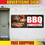 Bbq Competition Banner Advertising Vinyl Sign Flag Grill Smoke Spice Barbeque