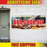 Bbq Cook Off Banner Advertising Vinyl Sign Flag Grill Barbeque Party Event Here