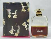 Rare Vintage 1940and039s Intrigue By Bombi 2 Oz Perfume Parfum Bottle In Box 50 Full