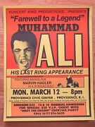 Original Muhammad Ali Farewell To A Legend ... His Last Ring Appearance Poster