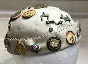 1930s Childs Beenie Hat With 22 Pins Dick Tracy Santa Berliner Gramaphone And More