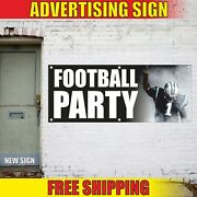 Football Party Banner Advertising Vinyl Sign Flag Event Bar Beer Decor Hot Drink