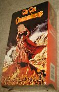 The Ten Commandments Two Tape Vhs Set, New And Sealed, Academy Award Winner