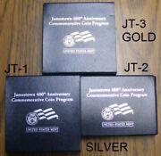 Jamestown Proof 2007-w 5 Gold 400th Aniversary Set With Silver  Jt1 Jt2 Jt3