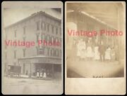 1880and039s Brooklyn Ny Flushing Ave - Two Historic Photos - Geisen Grocery Store
