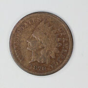 1870 Indian Head Cent Penny 1c Vg Very Good 2063