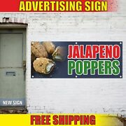 Jalapeno Poppers Banner Advertising Vinyl Sign Flag Mexican Cuisine Hot Food Bar