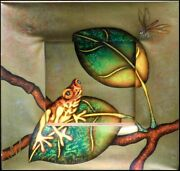Luis Sottil Musing Yellow Frog Hand Signed Hr1101 Naturalismo On Canvas