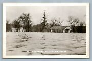 Winchester Nh Middle Covered Bridge Flood Antique Real Photo Postcard Rppc