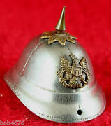 Rare 1880and039s Miniature Us Army Spiked Helmet 1.75 X 1.25 X 1.25 - High Quality