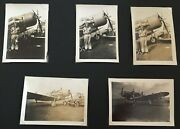 Rc488 Ww2 Northrop Nomad Aircraft Bandw Photo Lot X5 Mountain View On Refueling