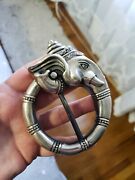 Lord Ganesh Very Large Sterling Silver Belt Buckle By Royal Underground