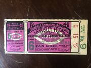 1940 Detroit Tigers World Series Chicago Cubs Ticket Game 6