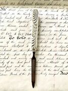 Victorian English Silver Nail File With Gorgeous Unique Design.