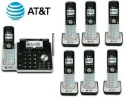 Atandt Tl88102 W/ 6 88002 2-line Answering Machine System 7 Cordless Phone Handset