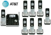 Atandt Tl88102 W/ 7 88002 2-line Answering Machine System 8 Cordless Phone Handset