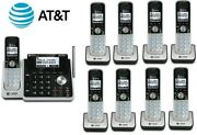 Atandt Tl88102 W/ 8 88002 2-line Answering Machine System 9 Cordless Phone Handset