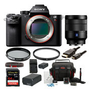 Sony Alpha A7r Ii Mirrorless Camera With 24-70mm Lens And Accessory Bundle
