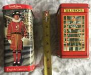 Vintage Tin Banks Russel Stover And Bentley's Chocolates/candies Pre Owned Nice