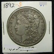 1892 S Morgan Silver Dollar 530-140 Very Scarce Date - Strong Xf Details