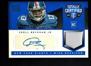 2014 Totally Certified Odell Beckham Giants Rookie Auto Jersey Card Ed 1/10
