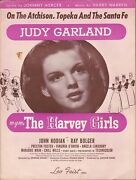 Kd Sheet Music Harvey Girls, The 1945 Judy Garland, On The Atchinson, Topeka And