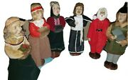 Vintage Christmas Carolers Figurines Lot 6 Holiday Collectible 12-12.5 Doll