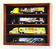 164 Scale Hot Wheels Semi Big Rig Trailer Truck Display Case Cabinet Holds 4