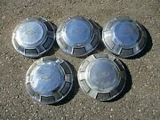 Lot Of 5 Factory 1968 To 1973 Chevy Caprice Impala Dog Dish Hubcaps Beaters