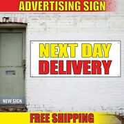 Next Day Delivery Banner Advertising Vinyl Sign Flag Shipping Service Order Open