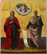 Russian Icon Two Saints