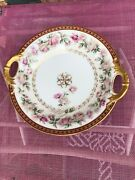 Theo Haviland 855a Shallow Serving Bowl 10.5 Double Gold France Limoges