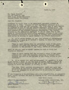 James Jimmy Stewart - Document Signed 03/01/1955 Co-signed By William Goetz