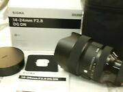 Sigma 14-24mm F2.8 Art Dg Dn Zoom Lens For Sony E New In Factory Box And Case