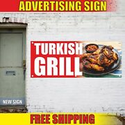 Turkish Grill Banner Advertising Vinyl Sign Flag Food Bbq Meat Hot Barbecue Open