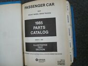 1985 Dodge Charger Hatchback Parts Catalog Manual 2.2 Shelby Turbo