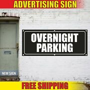 Overnight Parking Banner Advertising Vinyl Sign Flag Area Place Free Zone Open