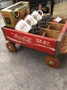 Vintage Coca Cola Collectibles Including Train, Wagon, Mugs And Cups