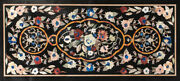 48 X 24 Marble Dining Table Top Mother Pf Pearl Inlaid Marquetry Work