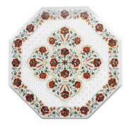 24 Marble Center Table Top Floral Inlay Art Work Handmade Home Decor