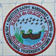 Maryland Freestate Wanderers Decoy Capital 1987 Volksmarch Walking Club Patch