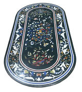 48 X 24 Marble Coffee Table Top Pietra Dura Inlay Handcrafted Work