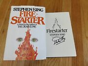 Horror Author Stephen King Signed Fire-starter Later Edition 1980 Book