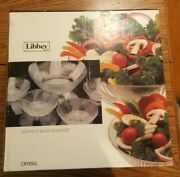 Libbey Set 5 Crystal Clear Glass Salad/snack Bowls Set Used/new See Distcription