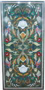 54 X 32 Green Marble Patio / Dining Table Top Inlay Art Home Decor