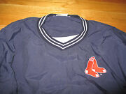 Vintage Russell Athletic Boston Red Sox Embroidered Red Socks Nylon Lg Jacket