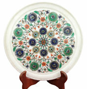 Marble Plate Semi Precious Stones Work Home Decorative And Gifts